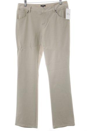 Jones Pantalón de cuero crema look casual