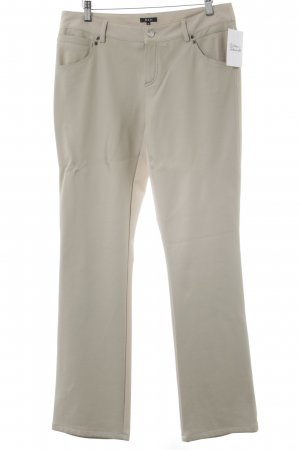 Jones Pantalone in pelle crema stile casual