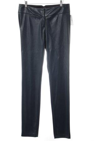 Jones Pantalon en cuir bleu cadet style mouillé