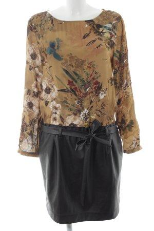 Jones Leren jurk bloemenprint casual uitstraling