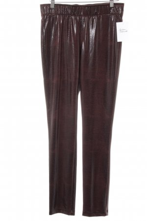 Jones Leggings schwarz-bordeauxrot Animalmuster Glanz-Optik