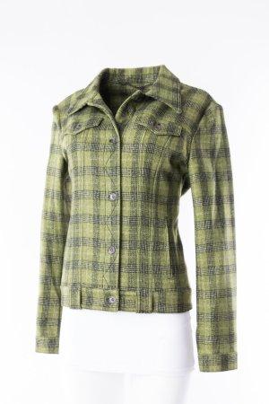 JONES - Leichte Jacke Grün-kariert aus Schurwolle