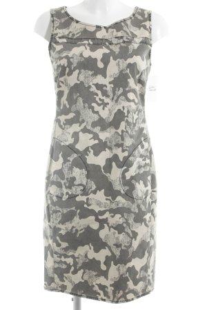 Jones Mini Dress oatmeal-grey camouflage pattern casual look