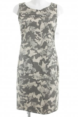 Jones Minikleid hellbeige-grau Camouflagemuster Casual-Look