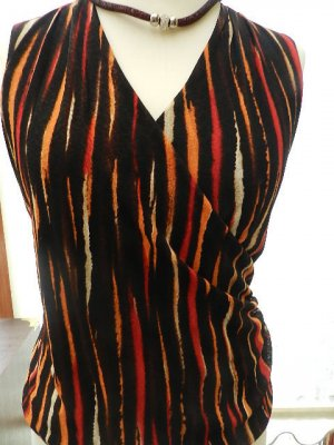 Jones New York Collection Shirt Orange Schwarz - Gr 40 - ungetragen