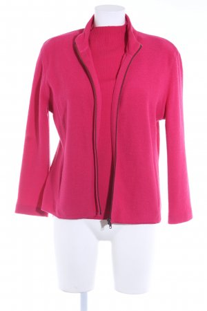 Jones New York Twin set in maglia magenta stile casual