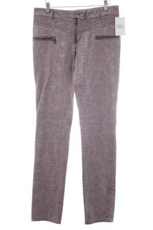 Jones Drainpipe Trousers mauve animal pattern extravagant style