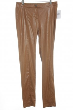 Jones Pantalon cigarette cognac style cuir
