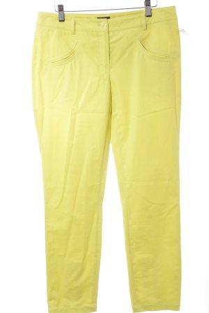 Jones Pantalon cigarette jaune fluo rayure fine style décontracté
