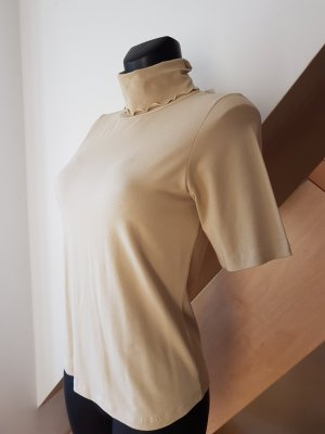 Jones Top à col roulé beige viscose