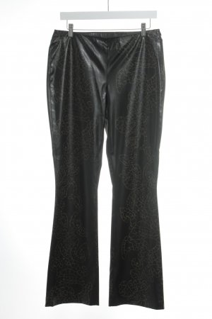 Jones Flares black brown-light brown allover print extravagant style