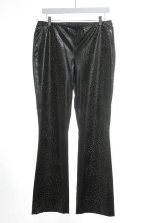 Jones Pantalon pattes d'éléphant brun noir-marron clair imprimé allover