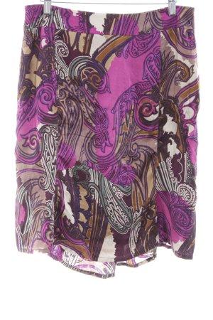 Jones Silk Skirt abstract pattern casual look
