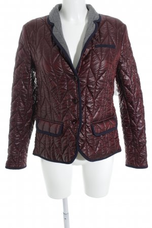 Jones Giubbotto trapuntato bordeaux-blu scuro stile casual