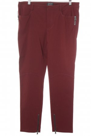 Jones Stoffhose bordeauxrot Casual-Look