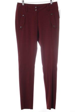 Jones Pantalone jersey bordeaux stile classico