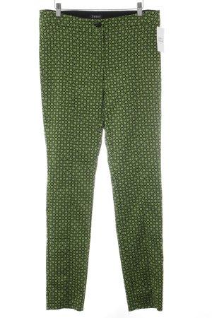 Jones Pantalone jersey nero-verde motivo a pallini stile stravagante