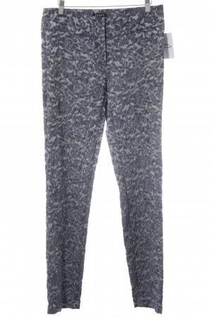 Jones Pantalone jersey blu acciaio-bianco stampa astratta stile stravagante