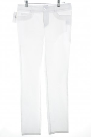 Jones Pantalone jersey bianco stile casual