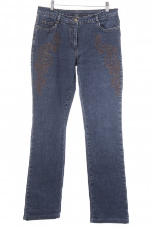 Jones Straight-Leg Jeans blau-cognac Casual-Look