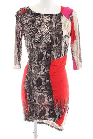 Jones Vestido elástico estampado con diseño abstracto estilo fiesta