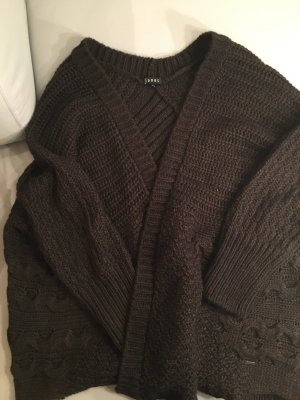 Jones Coarse Knitted Jacket dark brown wool