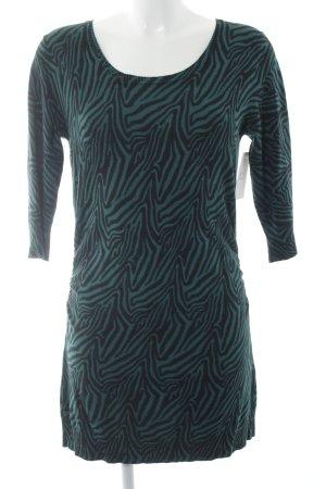 Jones Knitted Dress black-cadet blue animal pattern animal print
