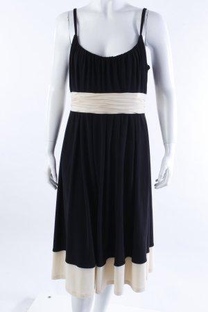 Jones Trägerkleid schwarz-creme