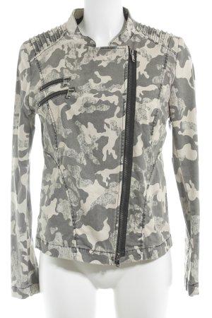 Jones Übergangsjacke hellbeige-grau Camouflagemuster Casual-Look