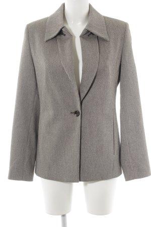 Jones Blazer in lana marrone-grigio Stampa suggestiva stile professionale