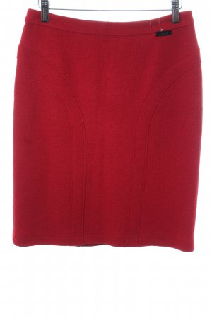 Jones Wool Skirt dark red casual look