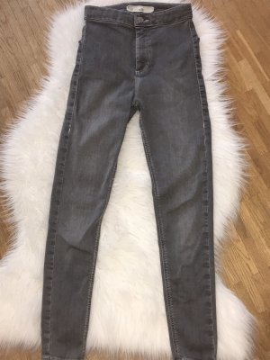 Topshop High Waist Jeans grey
