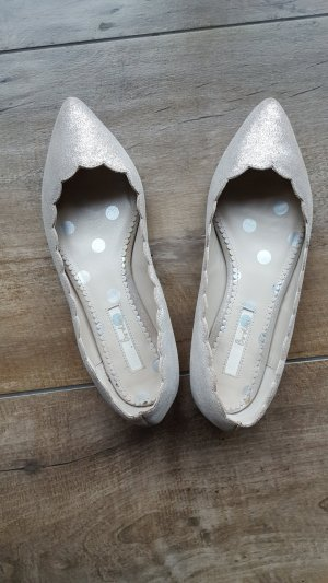 Boden Ballerinas with Toecap silver-colored