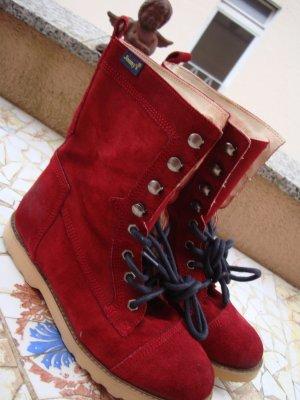 JONNY´S BOOTS STIEFELETTEN ANTIK-STYLE LEDER rot red NP129,95€! 36/37 Neuwertig!!! Gerne Preisvorschlag!!!
