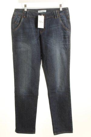 Joop! 7/8 Jeans dunkelblau Washed-Optik