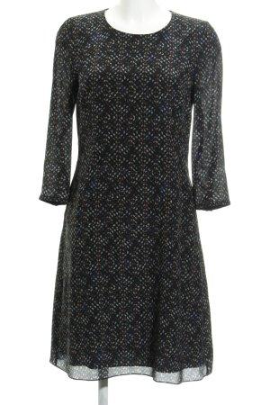 Joop! A-Linien Kleid schwarz-graubraun grafisches Muster Casual-Look