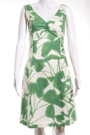 Joop! A-Linien Kleid waldgrün-wollweiß florales Muster Elegant