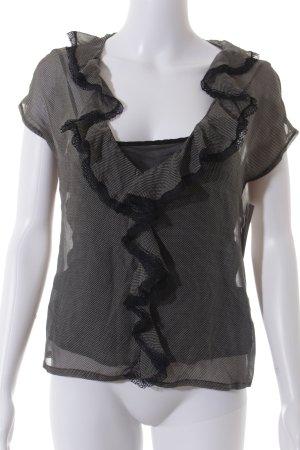 Joop! ärmellose Bluse schwarz-weiß Punktemuster Casual-Look
