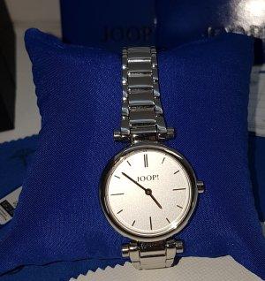 Joop! Reloj con pulsera metálica blanco-color plata