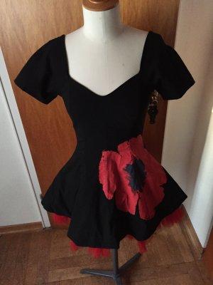 Joop! Blondes Kleid schwarz rot Tüll rockabilly 36 (42)