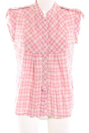 Joop! Blusentop pink-creme Karomuster Casual-Look