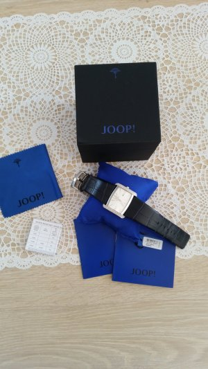 Joop! Watch With Leather Strap dark blue stainless steel
