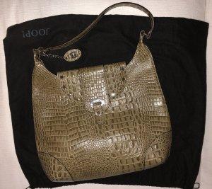 Joop Designer-Leder-Tasche mit Kroko-Prägung