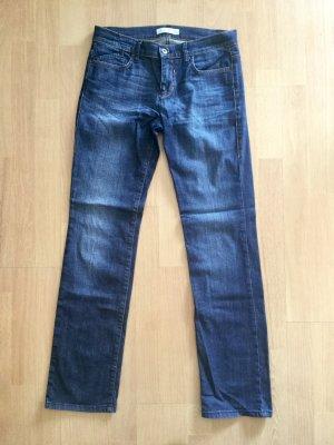 Joop! Dunkelblaue Jeans gerade geschnittene Jeans Gr. 27/32 dunkelblau
