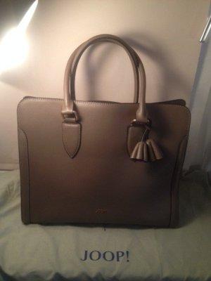 Joop! Laptop bag grey brown leather