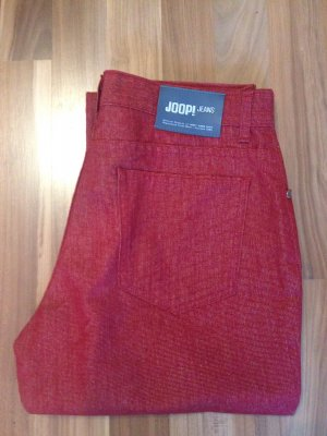 Joop Five Pocket rot red Color Denim Jeans gerade