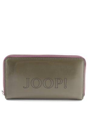 Joop! Geldbörse khaki-lila Schriftzug gestickt Casual-Look
