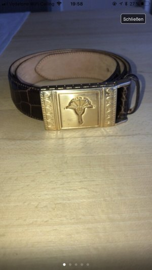 Joop! Leather Belt brown-gold-colored