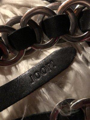 Joop! Cinturón de cuero negro