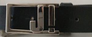 * Joop! * Gürtel schwarz silberne Logo Schnalle 75 cm